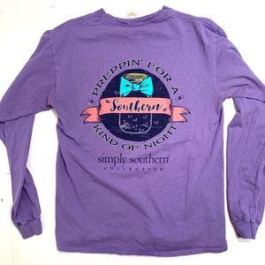 Simply Southern Purple Long Sleeve Tee